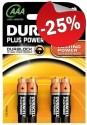 DURACELL Plus Power AAA MN2400 (4 stuks)