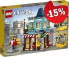 LEGO 31105 Woonhuis en Speelgoedwinkel, slechts: € 42,49