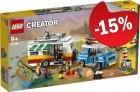 LEGO 31108 Familievakantie met Caravan, slechts: € 76,49
