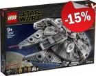 LEGO 75257 Millennium Falcon, slechts: € 144,49