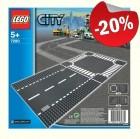 LEGO 7280 Grondplaten Kruising en Rechte Weg