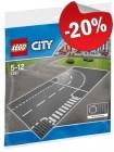 LEGO 7281 Grondplaten met Bocht en T-Splitsing, slechts: € 7,99