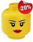 LEGO Storage Head L Girl, slechts: € 19,99