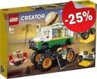LEGO 31104 Hamburger Monstertruck, slechts: € 37,49