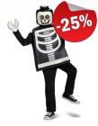LEGO Kostuum Skelet (Maat 110-128), slechts: € 29,99