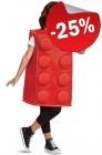 LEGO Kostuum Steen ROOD (Maat 122-134), slechts: € 22,49