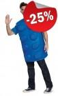 LEGO Kostuum Steen BLAUW (Maat S-M), slechts: € 29,99