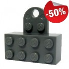 LEGO Magneet 2x4 DONKERGRIJS (10 stuks)