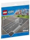 LEGO 7281 Grondplaten met Bocht en T-Splitsing