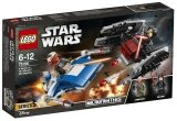 LEGO 75196 A-wing vs TIE Silencer Microfighters