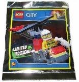 LEGO Brandweer Vrouw met Helikopter (Polybag)