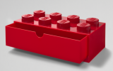 LEGO Desk Drawer 8 Knops RED