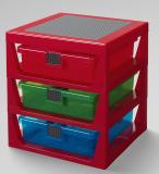 LEGO Iconic 3-Lades Opbergrek ROOD