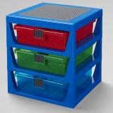 LEGO Iconic 3-Drawer Rack BLUE