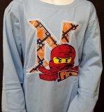 LEGO Ninjago T-Shirt LICHTBLAUW (Timmy 309 - Maat 140)