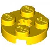 LEGO Plaat 2x2 Rond GEEL (100 stuks)