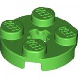 LEGO Plaat 2x2 Rond HELDERGROEN (100 stuks)