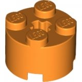 LEGO Steen 2x2 Rond ORANJE (100 stuks)
