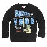 LEGO Sweatshirt Yoda ZWART (Simon 120 Maat 152)