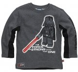 LEGO Sweatshirt Star Wars DONKER GRIJS (Silas 822 - Maat 140)