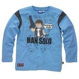 LEGO T-Shirt Han Solo BLAUW (Terry 121 Maat 134)