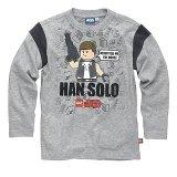 LEGO T-Shirt Han Solo GRIJS (Terry 121 Maat 134)