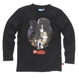 LEGO T-Shirt Star Wars Heroes ZWART (Terry 122 Maat 122)