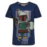LEGO T-Shirt Star Wars DONKERBLAUW (Teo 150 Maat 134)