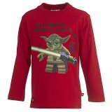LEGO T-Shirt Yoda ROOD (Terry 655 Maat 104)