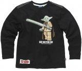 LEGO T-Shirt Yoda ZWART (Tom 114 Maat 128)