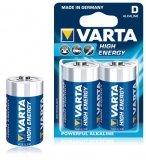VARTA Alkaline Batterij D (2 stuks)