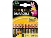 DURACELL Batterij AAA MN2400 (8 stuks) BLISTER