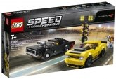LEGO 75893 2018 Dodge Challenger SRT Demon en 1970 Dodge Charger