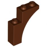 LEGO Boog 1x3x3 BRUIN (100 stuks)