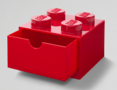 LEGO Desk Drawer 4 Knops RED