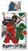 LEGO Dekbedovertrek Ninjago 2-in-1 Spinjitsu
