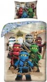 LEGO Dekbedovertrek 6 Ninja's en Meester Wu 2-in-1