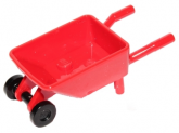 LEGO Whheelbarrow with Trolley Wheels RED