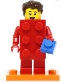 LEGO Man in LEGO Stenenpak ROOD (COL18-2)
