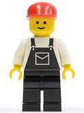 LEGO Minifiguur met Overall ZWART (OVR014)