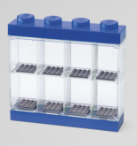 LEGO Minifiguur Display Case 8 BLAUW