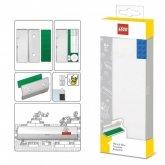 LEGO Pennendoos WIT met Plaat 2x4 BLAUW