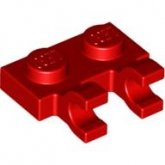 LEGO Plate 1x2 with Clips Horizontal RED (100 pcs)