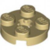 LEGO Platce 2x2 Round TAN (100 pcs)