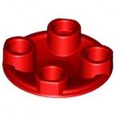 LEGO Plaat 2x2 Rond met ronde onderzijde ROOD (100 stuks)