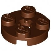 LEGO Plate 2x2 Round BROWN (100 pcs)