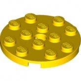 LEGO Plaat 4x4 Rond GEEL (10 stuks)