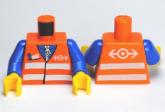 LEGO Romp Spoorwerker ORANJE (10 stuks)