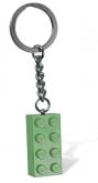 LEGO Sleutelhanger Steen 2x4 ZANDGROEN