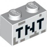 LEGO Steen 1x2 WIT met opdruk TNT (10 stuks)
